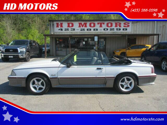 1989 Ford Mustang for sale at HD MOTORS in Kingsport TN
