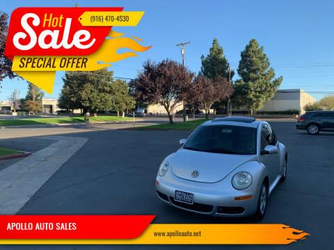 2007 Volkswagen New Beetle for sale at APOLLO AUTO SALES in Sacramento CA