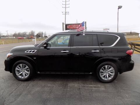 2017 Infiniti QX80 for sale at MYLENBUSCH AUTO SOURCE in O` Fallon MO