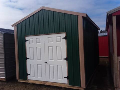 2020 PREMIER Portable Building's 10X16 Metal  Utility SOLD for sale at Dave's Auto Sales & Service - Premier Buildings in Weyauwega WI