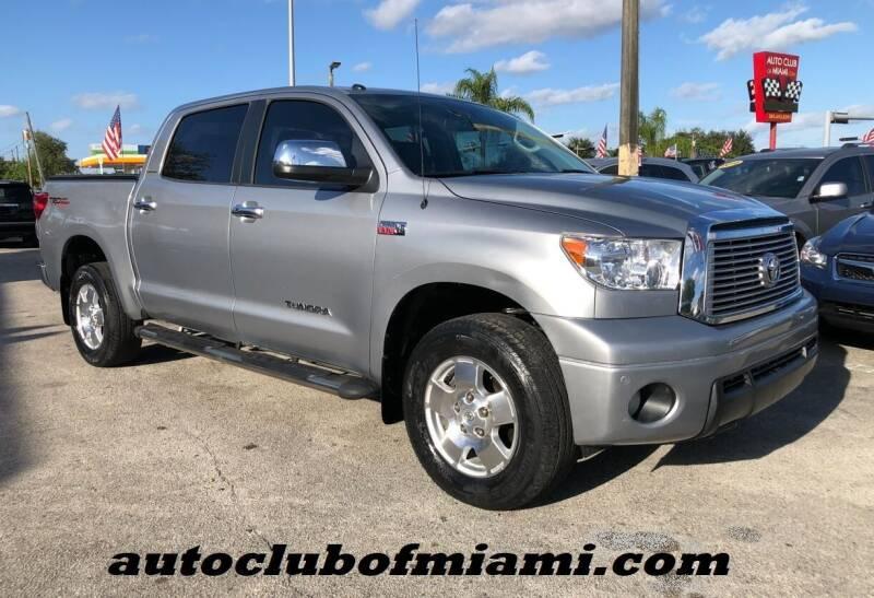 2011 Toyota Tundra for sale at AUTO CLUB OF MIAMI, INC in Miami FL