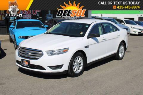 2013 Ford Taurus for sale at Del Sol Auto Sales in Everett WA