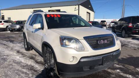 2009 GMC Acadia for sale at BELOW BOOK AUTO SALES in Idaho Falls ID