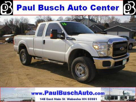 2016 Ford F-250 Super Duty for sale at Paul Busch Auto Center Inc in Wabasha MN