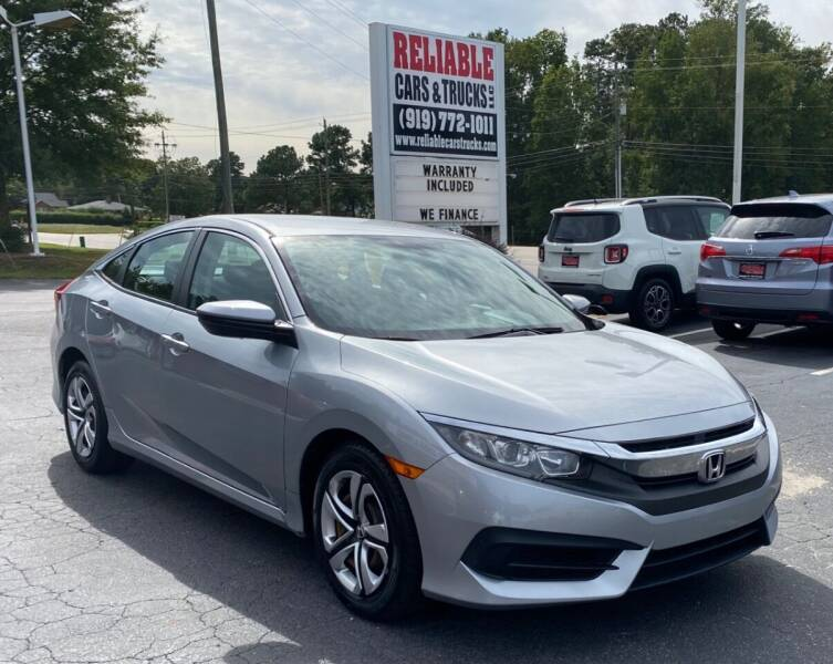 2016 Honda Civic for sale at Reliable Cars & Trucks LLC in Raleigh NC