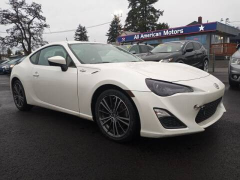 2013 Scion FR-S for sale at All American Motors in Tacoma WA