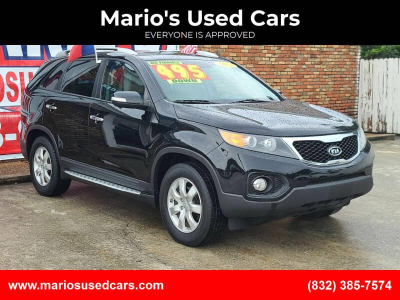 2012 Kia Sorento for sale at Mario's Used Cars - South Houston Location in South Houston TX
