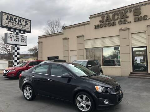2015 Chevrolet Sonic for sale at JACK'S MOTOR COMPANY in Van Buren AR