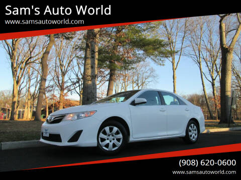 2012 Toyota Camry for sale at Sam's Auto World in Roselle NJ