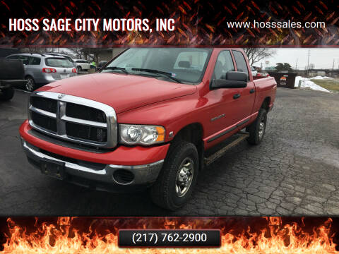 2004 Dodge Ram Pickup 2500 for sale at Hoss Sage City Motors, Inc in Monticello IL