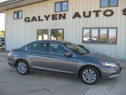 2012 Honda Accord for sale at Galyen Auto Sales in Atkinson NE
