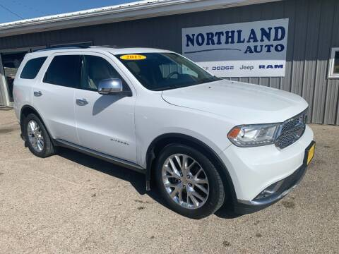 2015 Dodge Durango for sale at Northland Auto in Humboldt IA