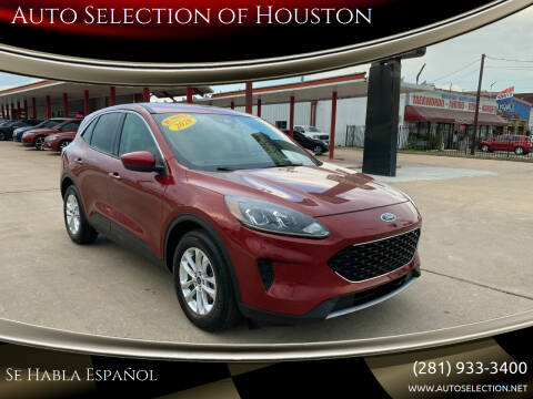2020 Ford Escape for sale at Auto Selection of Houston in Houston TX