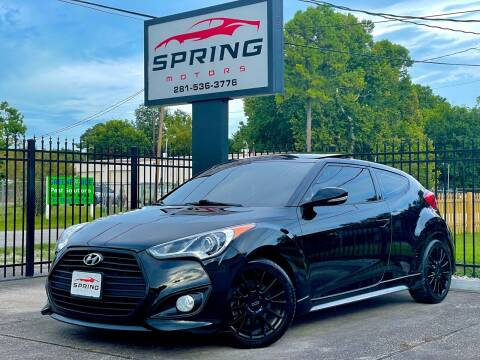 2013 Hyundai Veloster for sale at Spring Motors in Spring TX