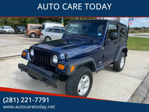 2006 Jeep Wrangler for sale at AUTO CARE TODAY in Spring TX