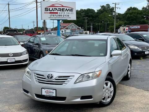 2008 Toyota Camry for sale at Supreme Auto Sales in Chesapeake VA