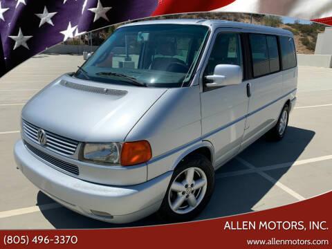 2001 Volkswagen EuroVan for sale at Allen Motors, Inc. in Thousand Oaks CA