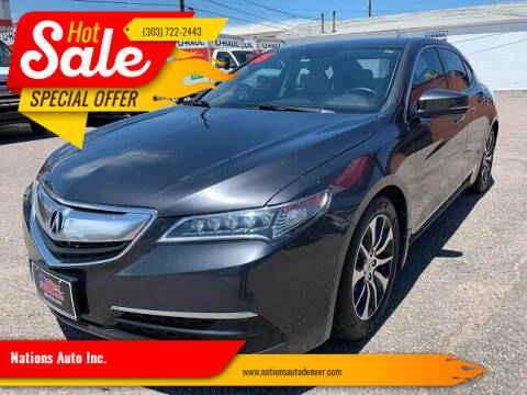 2015 Acura TLX for sale at Nations Auto Inc. in Denver CO