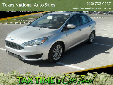 2015 Ford Focus for sale at Texas National Auto Sales in San Antonio TX