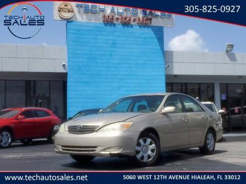 2003 Toyota Camry for sale at Tech Auto Sales in Hialeah FL