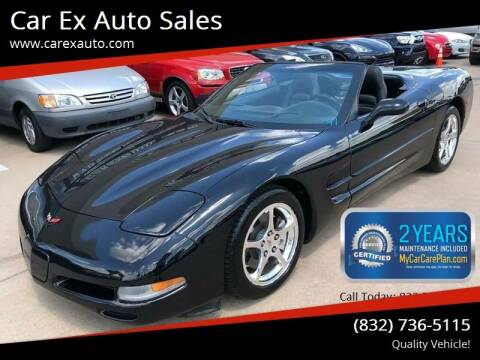 2002 Chevrolet Corvette for sale at Car Ex Auto Sales in Houston TX