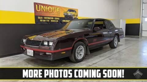 1987 Chevrolet Monte Carlo for sale at UNIQUE SPECIALTY & CLASSICS in Mankato MN