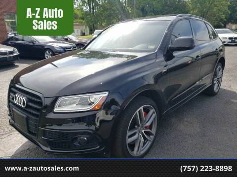 2016 Audi SQ5 for sale at A-Z Auto Sales in Newport News VA