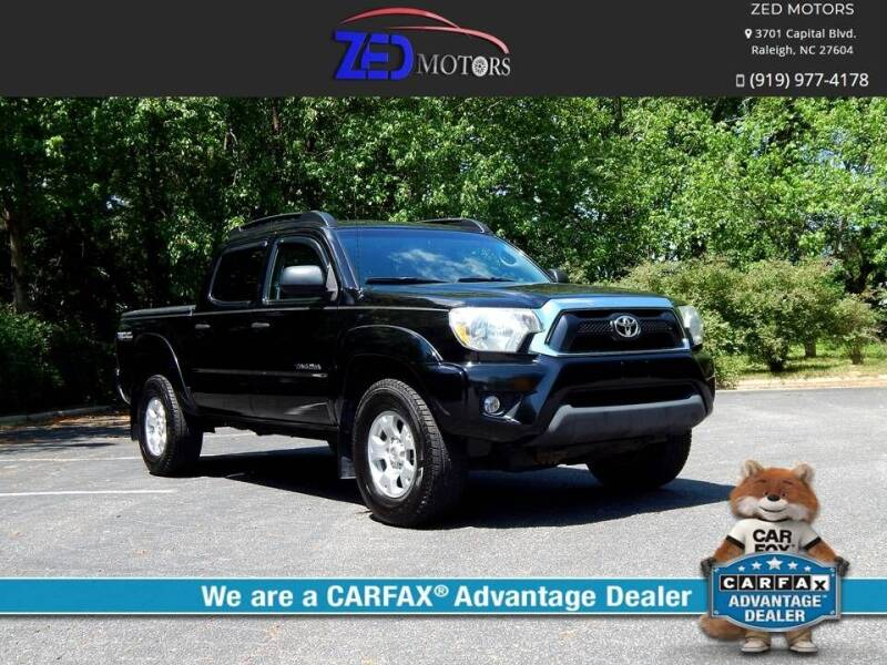2012 Toyota Tacoma for sale at Zed Motors in Raleigh NC