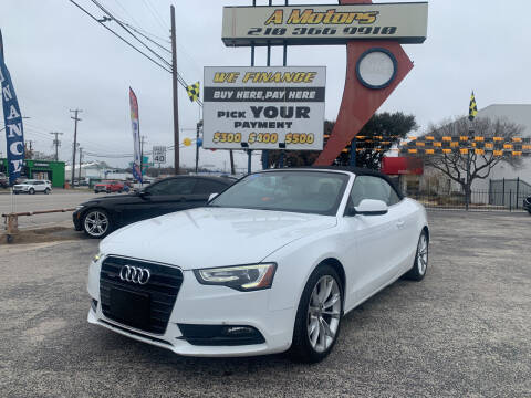 2013 Audi A5 for sale at A MOTORS SALES AND FINANCE - 6226 San Pedro Lot in San Antonio TX
