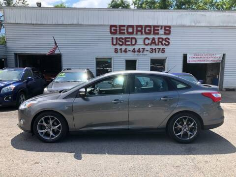 2014 Ford Focus for sale at George's Used Cars Inc in Orbisonia PA
