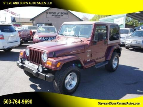 2001 Jeep Wrangler for sale at Steve & Sons Auto Sales in Happy Valley OR