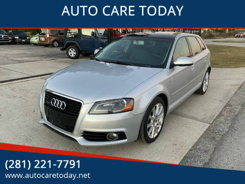 2013 Audi A3 for sale at AUTO CARE TODAY in Spring TX