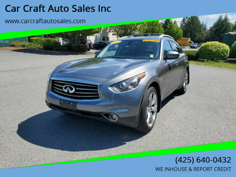 2012 Infiniti FX50 for sale at Car Craft Auto Sales Inc in Lynnwood WA