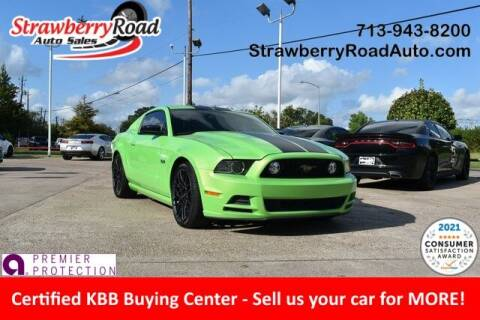 2014 Ford Mustang for sale at Strawberry Road Auto Sales in Pasadena TX