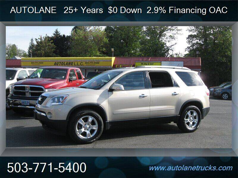 2010 GMC Acadia for sale at Auto Lane in Portland OR