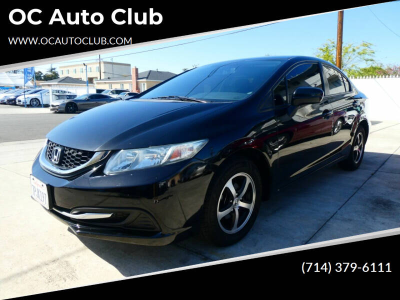 2015 Honda Civic for sale at OC Auto Club in Midway City CA