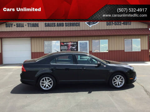2012 Ford Fusion for sale at Cars Unlimited in Marshall MN