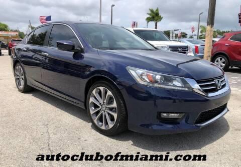 2014 Honda Accord for sale at AUTO CLUB OF MIAMI, INC in Miami FL
