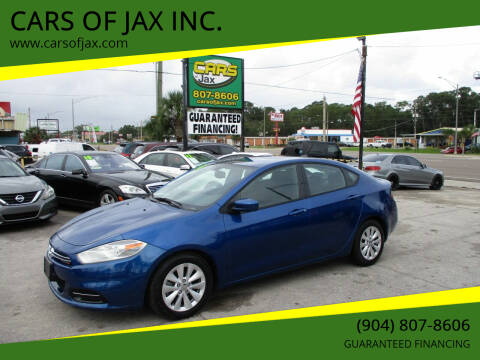 2014 Dodge Dart for sale at CARS OF JAX INC. in Jacksonville FL