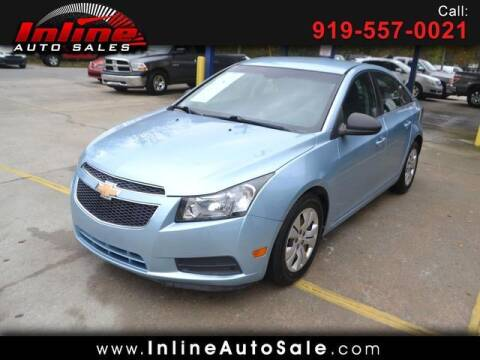 2012 Chevrolet Cruze for sale at Inline Auto Sales in Fuquay Varina NC