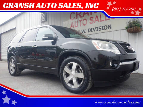 2011 GMC Acadia for sale at CRANSH AUTO SALES, INC in Arlington TX