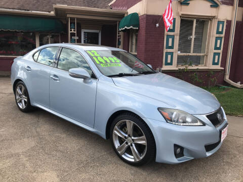 2012 Lexus IS 250 for sale at Firestation Auto Center in Tyler TX
