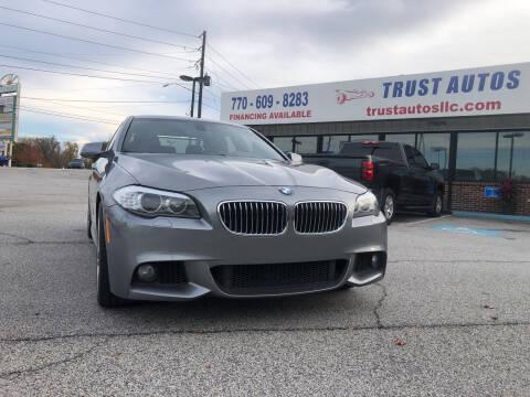 2011 BMW 5 Series for sale at Trust Autos, LLC in Decatur GA