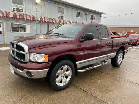 2002 Dodge Ram Pickup 1500 for sale at De Anda Auto Sales in South Sioux City NE