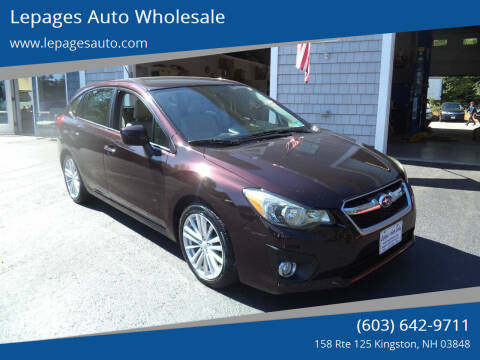 2012 Subaru Impreza for sale at Lepages Auto Wholesale in Kingston NH