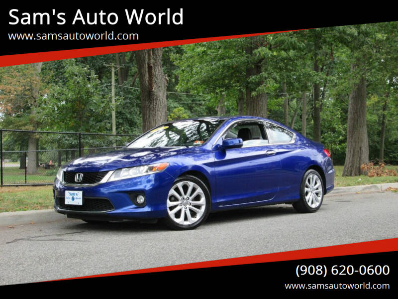 2013 Honda Accord for sale at Sam's Auto World in Roselle NJ
