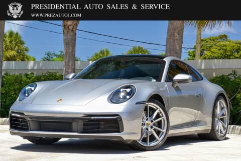 2020 Porsche 911 for sale at Presidential Auto  Sales & Service in Delray Beach FL