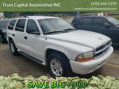 2002 Dodge Durango for sale at Trust Capital Automotive Inc. in Covington GA