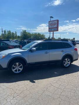 2013 Subaru Outback for sale at DAVE KNAPP USED CARS in Lapeer MI