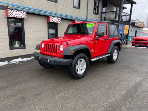 2011 Jeep Wrangler for sale at Sisson Pre-Owned in Uniontown PA